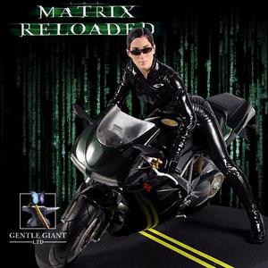 Matrix Reloaded - Trinity statue on bike